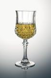Crystal Glass avec du vin blanc Photos libres de droits