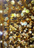 Crystal glass beads of various colors stock photography