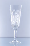 Crystal glass. On a blue background Stock Image