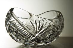 Crystal glass bowl Royalty Free Stock Photos