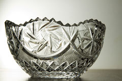 Crystal glass bowl Stock Photos