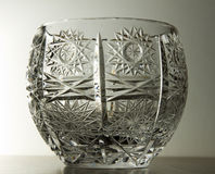 Crystal glass bowl Royalty Free Stock Photo