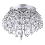 Crystal glass chandelier Stock Photo