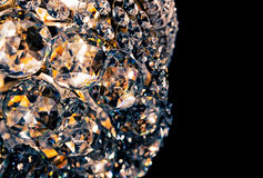 Crystal glass of chandelier that shines like a jewel Royalty Free Stock Image