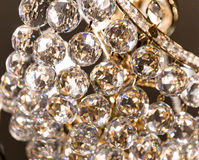 Crystal glass of chandelier that shines like a jewel Royalty Free Stock Photos