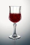 Crystal Glass con vino rosso Immagini Stock Libere da Diritti