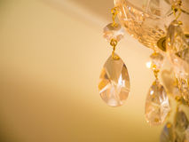 Crystal glass glittering chandelier Stock Photography
