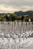 Crystal glass goblets Royalty Free Stock Photos