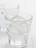 Crystal glass with ice cubes Royalty Free Stock Photo
