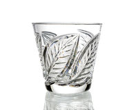Crystal glass, isolated on white background Royalty Free Stock Images