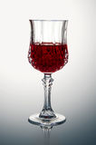 Crystal Glass with Red Wine Royalty Free Stock Images