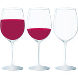 Crystal glass, red wine and special occasions Stock Photography