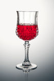 Crystal Glass with Rose Wine Royalty Free Stock Photos