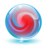 crystal, glass sphere. Royalty Free Stock Photo
