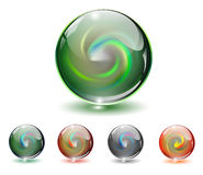 Crystal, glass sphere, vector. Stock Photography