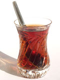 Crystal glass of tea Stock Image