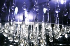 Crystal glass tears lamp detail texture stock photography