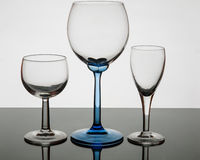 Crystal glass in transparency Royalty Free Stock Image