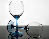 Crystal glass in transparency Stock Images