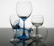 Crystal glass in transparency Stock Image
