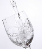 Crystal glass with water Stock Photography