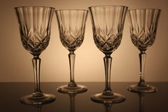 Crystal glasses Royalty Free Stock Images