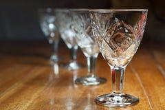 Crystal Glasses Imagem de Stock