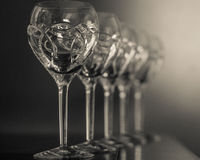 Crystal Glasses Stockfoto