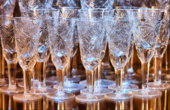 Crystal glasses Stock Images