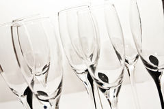 Crystal glasses for champagne Stock Images