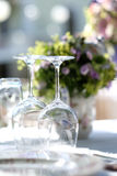 Crystal glasses for events Stock Photo