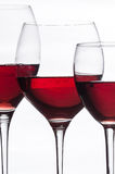 Crystal glasses with red wine Stock Image