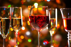 Crystal glasses of wine Royalty Free Stock Image