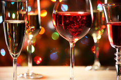 Crystal glasses of wine Royalty Free Stock Photo