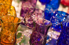 Crystal glassware Stock Image
