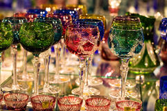 Crystal glassware Stock Photos