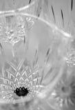 Crystal Glassware. Studio shot of crystal glassware royalty free stock photos