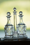 Crystal Glassware on tray Royalty Free Stock Photography
