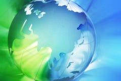 Crystal globe Stock Image