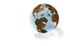 Crystal Globe. World crystal globe isolated over a white background. This is a 3D rendered picture Stock Photo