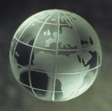 Crystal Globe Royalty Free Stock Photo