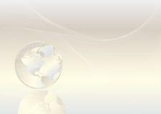 Crystal globe. Shiny background, vector illustration - World map Courtesy of NASA, author Tinka Sloss Stock Photo
