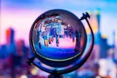 Crystal globe reflection Stock Images
