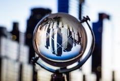 Crystal globe reflection Royalty Free Stock Photo