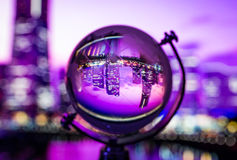 Crystal globe reflection Royalty Free Stock Images