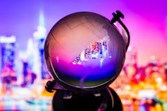 Crystal globe reflection Royalty Free Stock Photos