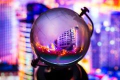 Crystal globe reflection Stock Photography