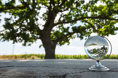 Crystal globe on the street Stock Image