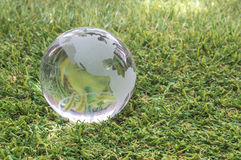 Crystal globe Stock Images