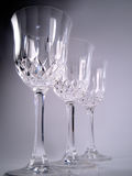 Crystal goblets. Fancy crystal goblets royalty free stock images